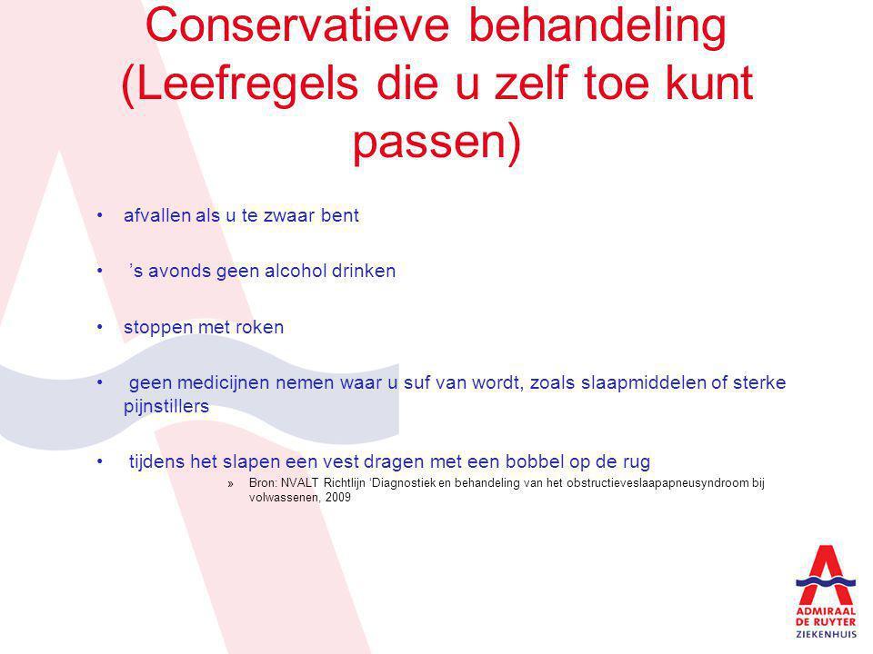 Conservatieve behandeling (Leefregels die u zelf toe kunt passen)
