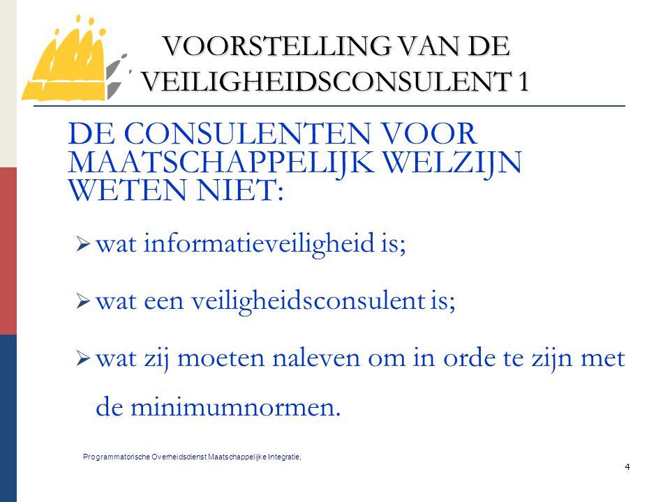 VOORSTELLING VAN DE VEILIGHEIDSCONSULENT 1