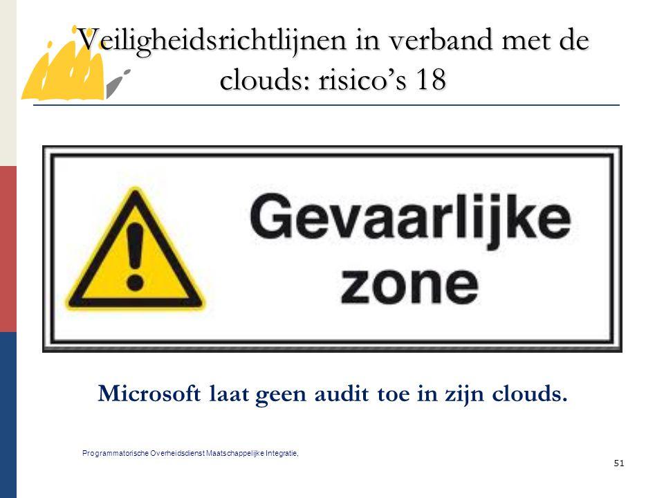 Veiligheidsrichtlijnen in verband met de clouds: risico's 18