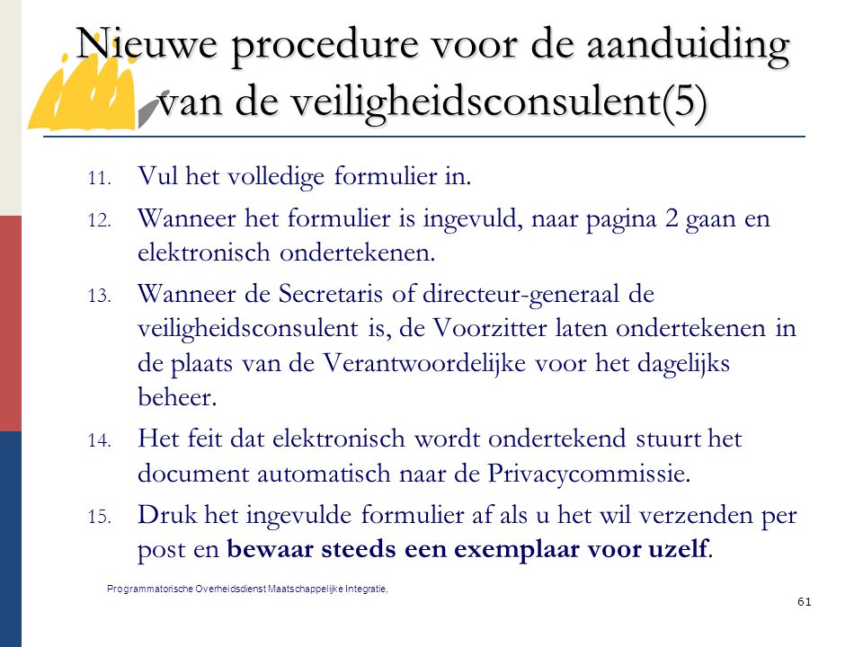 Nieuwe procedure voor de aanduiding van de veiligheidsconsulent(5)