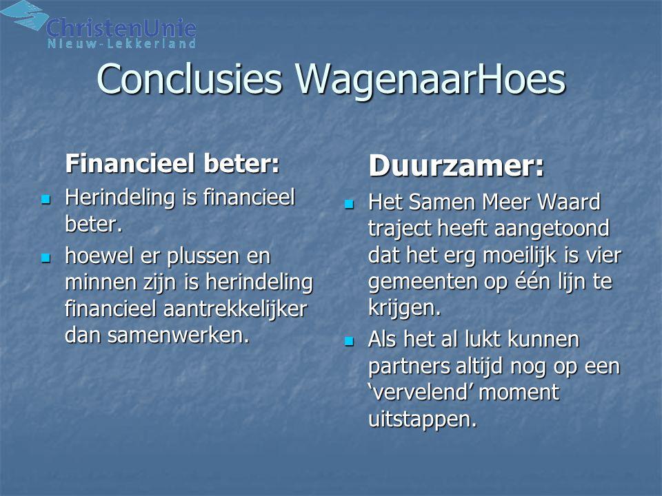 Conclusies WagenaarHoes