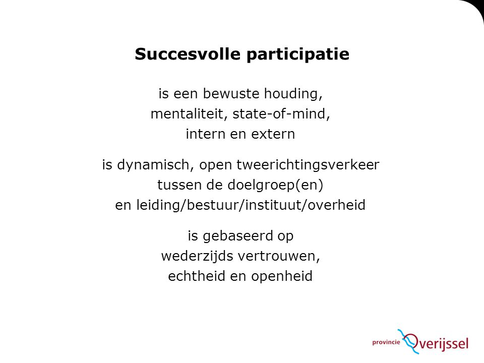 Succesvolle participatie