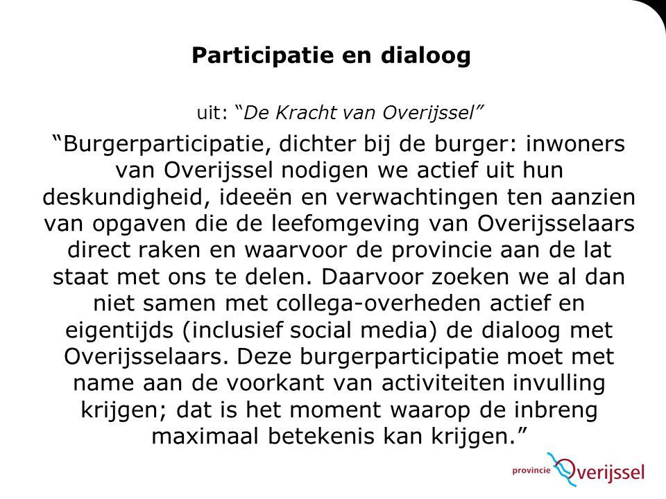 Participatie en dialoog