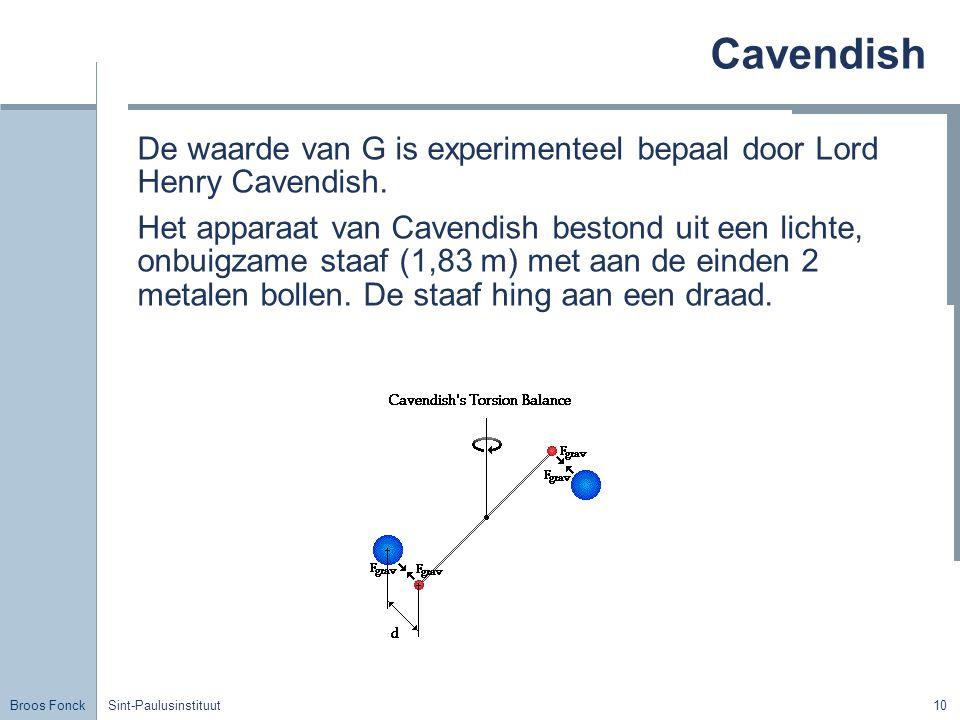 Cavendish Title. De waarde van G is experimenteel bepaal door Lord Henry Cavendish.