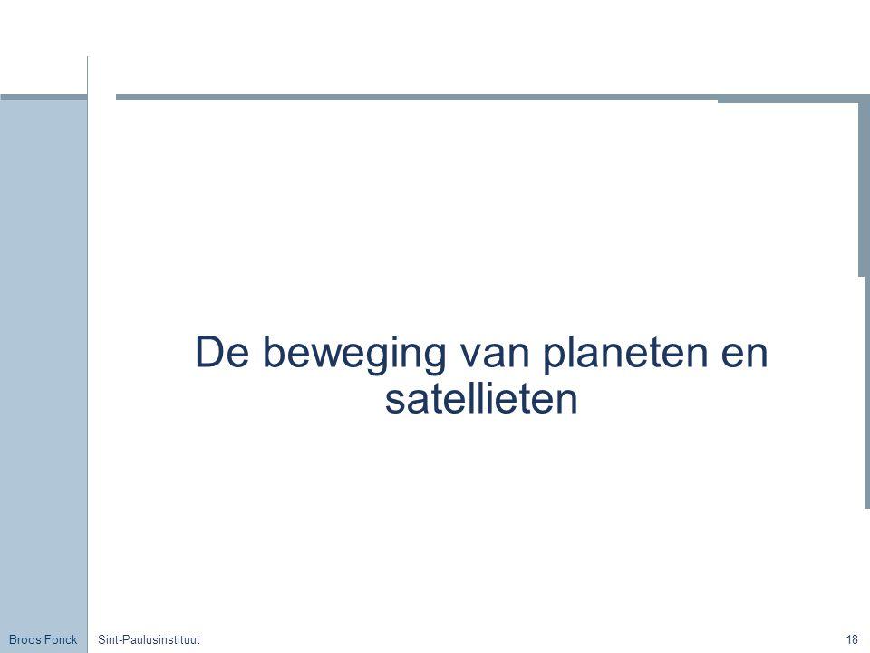 De beweging van planeten en satellieten