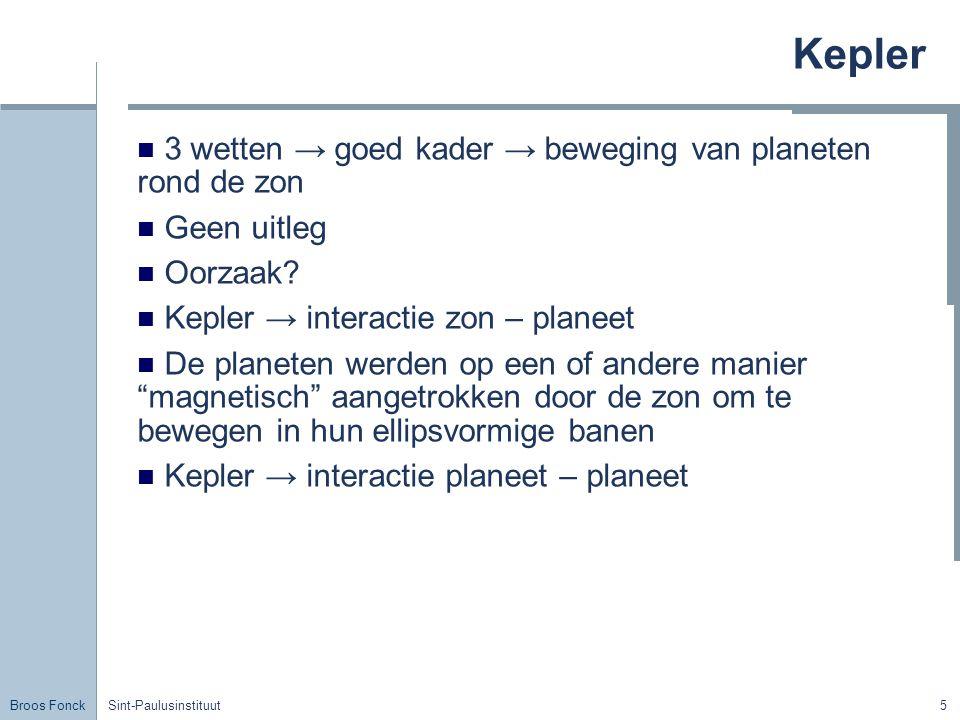 Kepler 3 wetten → goed kader → beweging van planeten rond de zon