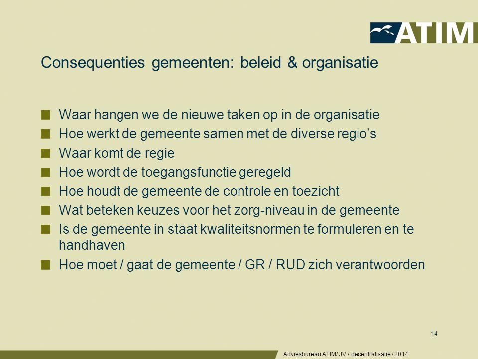 Consequenties gemeenten: werk en medewerkers