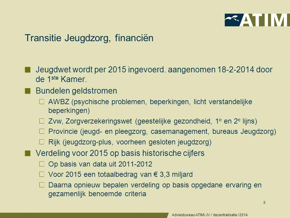 Voorbeeld financiering jeugdzorg en regioverdeling