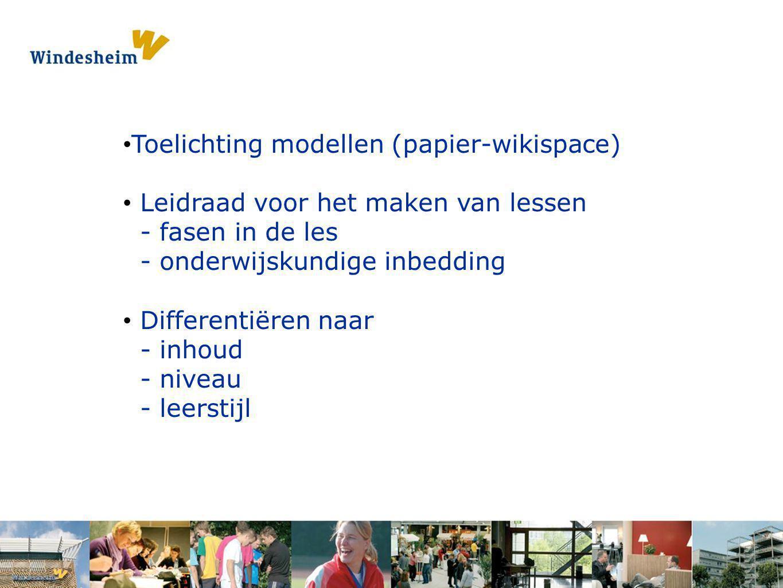Toelichting modellen (papier-wikispace)
