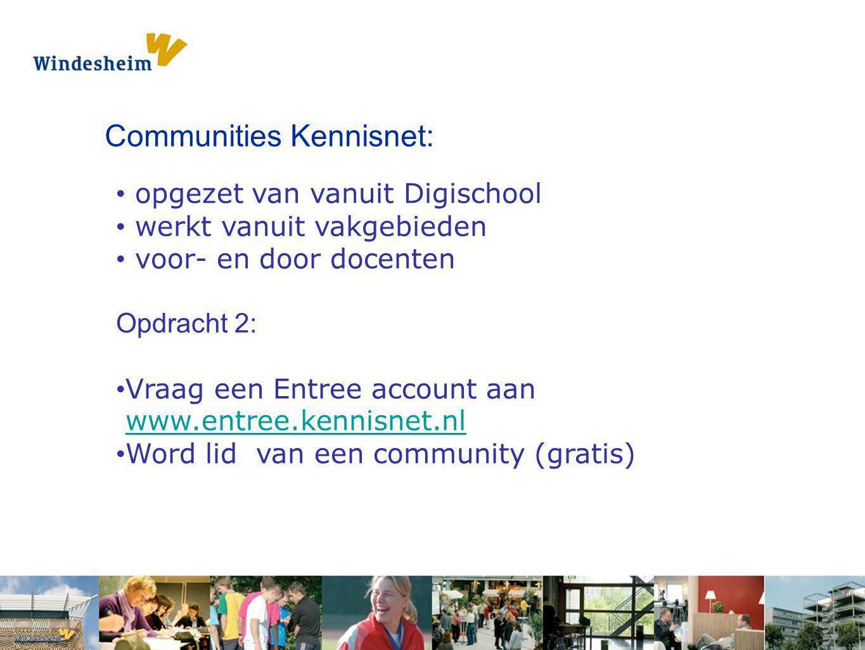 Communities Kennisnet: