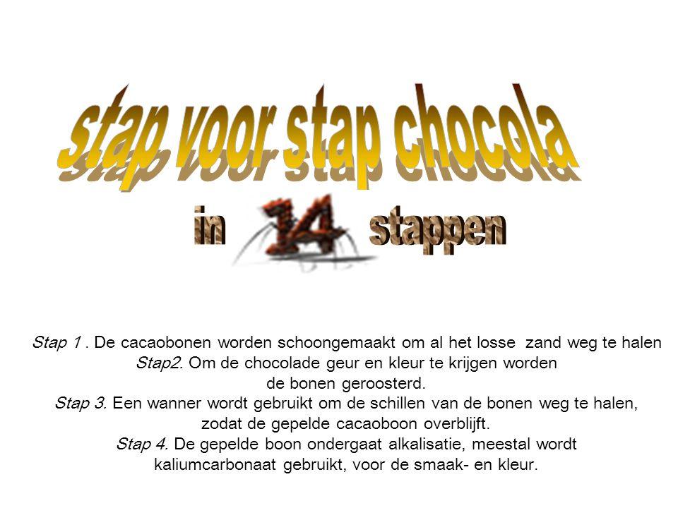in stappen stap voor stap chocola
