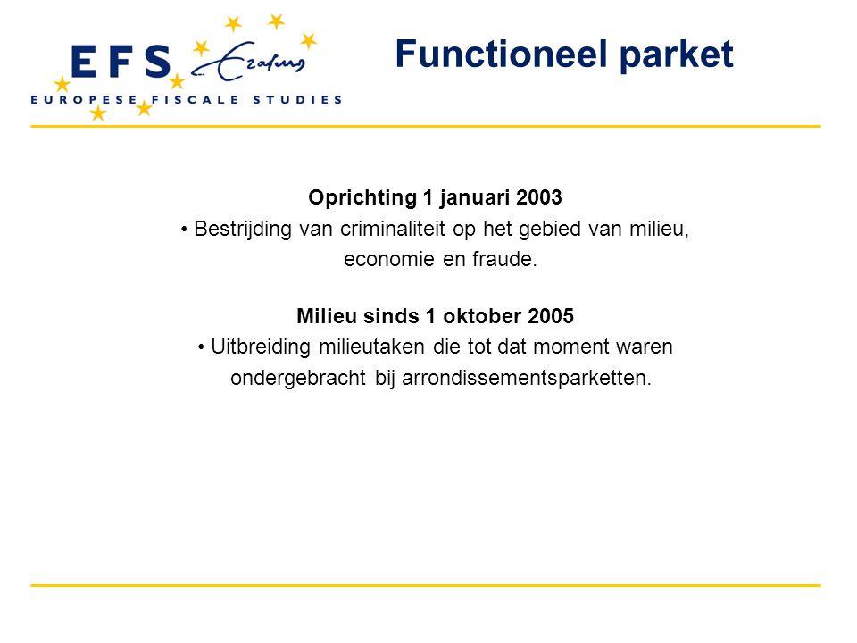 Functioneel parket Oprichting 1 januari 2003