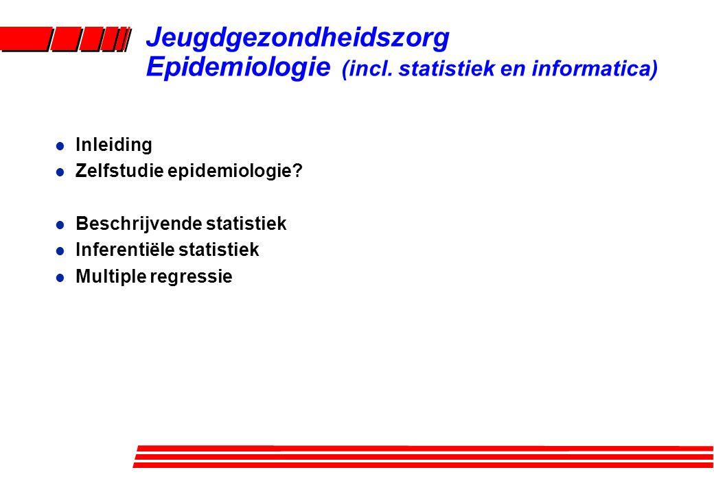 Jeugdgezondheidszorg Epidemiologie (incl. statistiek en informatica)