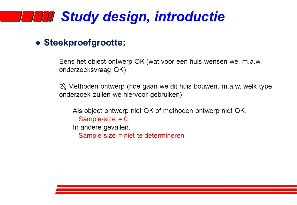 Study design, introductie