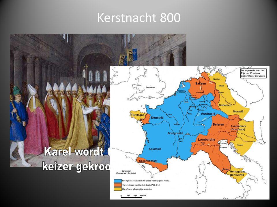 Kerstnacht 800 Karel wordt tot keizer gekroond