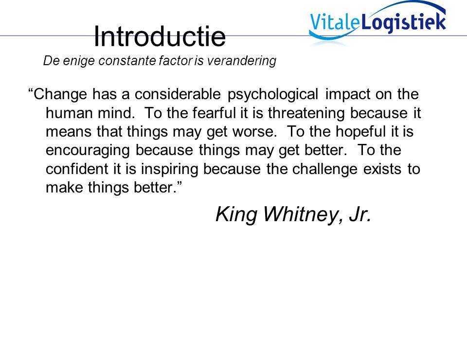 Introductie De enige constante factor is verandering