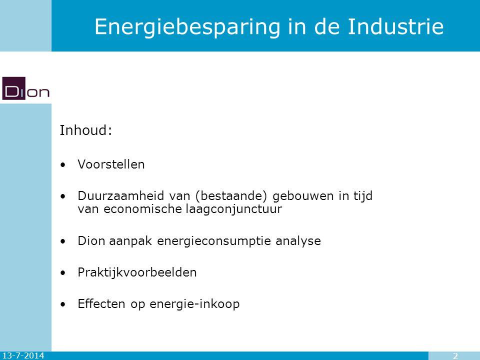 Energiebesparing in de Industrie