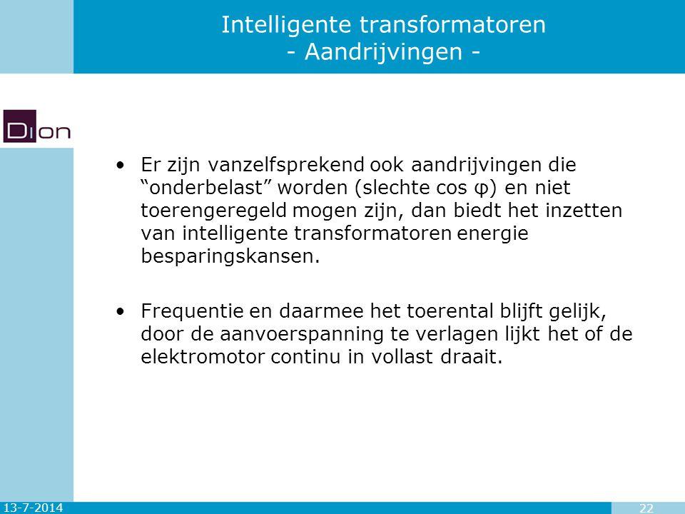 Intelligente transformatoren - Aandrijvingen -