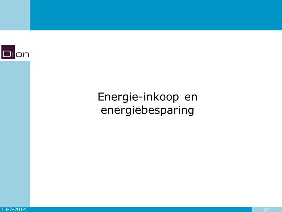 Energie-inkoop en energiebesparing