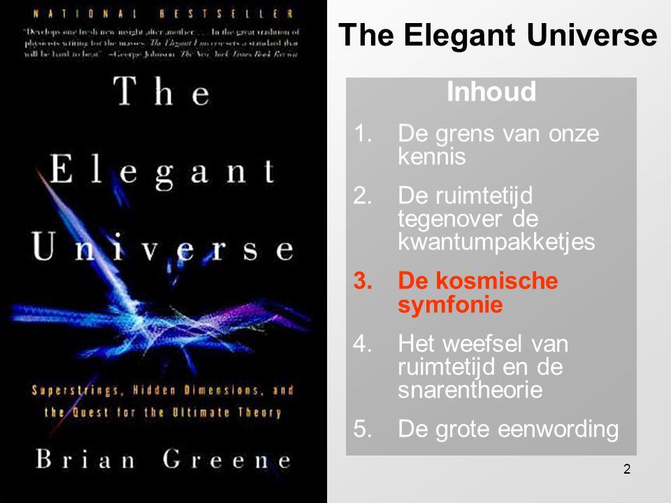 The Elegant Universe Inhoud De grens van onze kennis