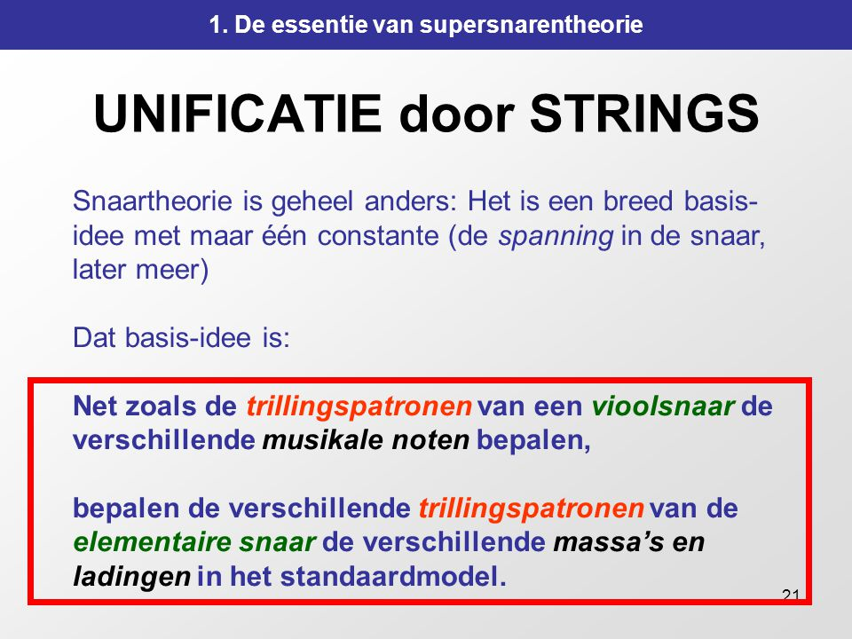 UNIFICATIE door STRINGS