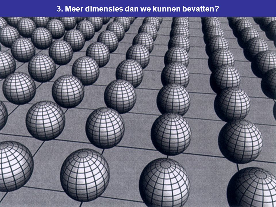 3. Meer dimensies dan we kunnen bevatten