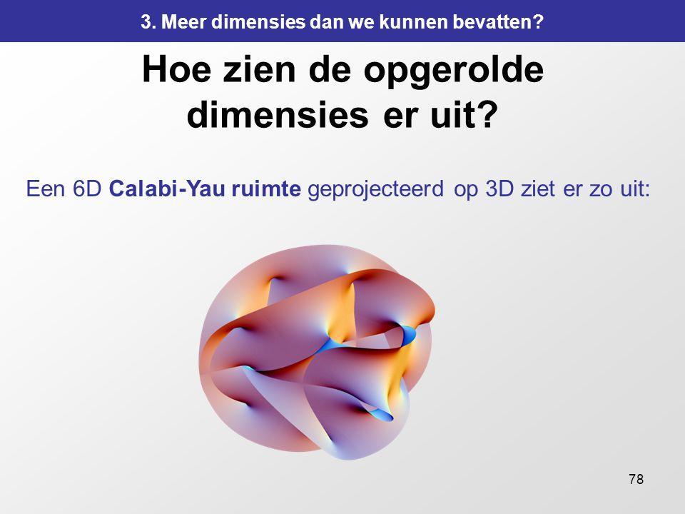 Hoe zien de opgerolde dimensies er uit