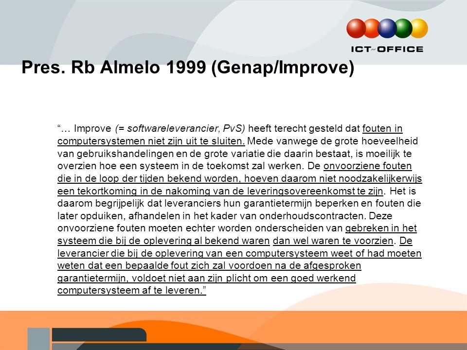 Pres. Rb Almelo 1999 (Genap/Improve)