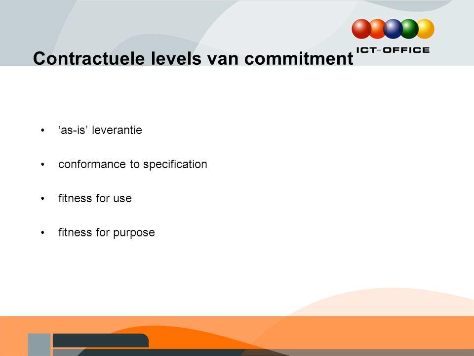 Contractuele levels van commitment