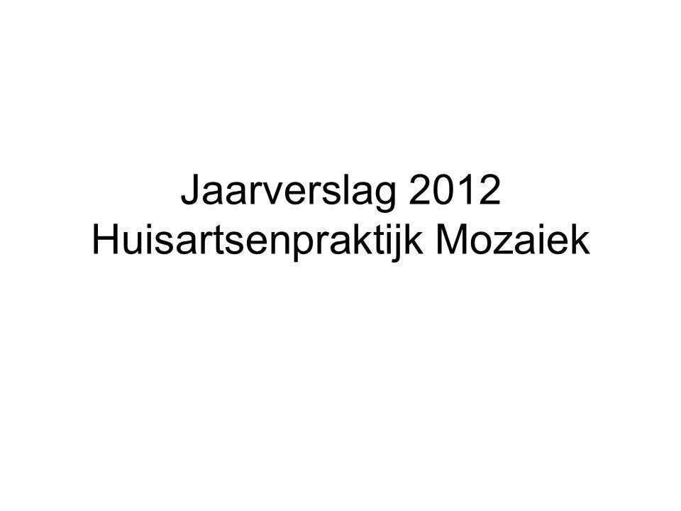 Jaarverslag 2012 Huisartsenpraktijk Mozaiek