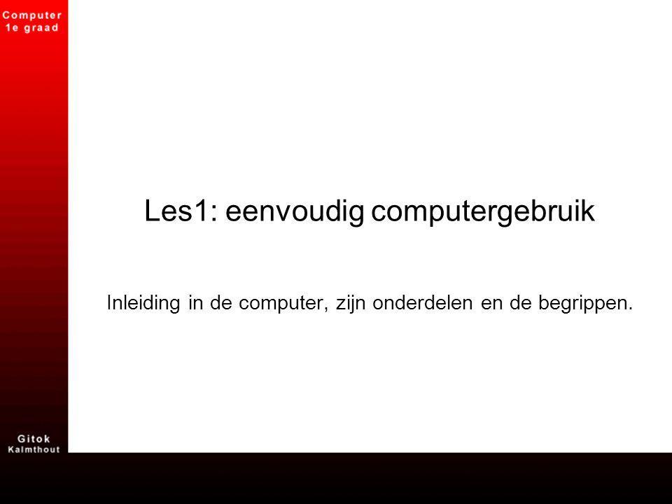 Les1: eenvoudig computergebruik