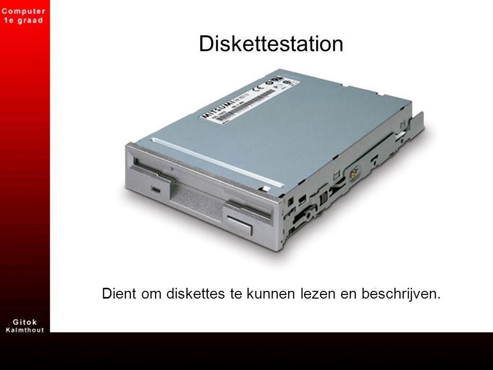 Dient om diskettes te kunnen lezen en beschrijven.
