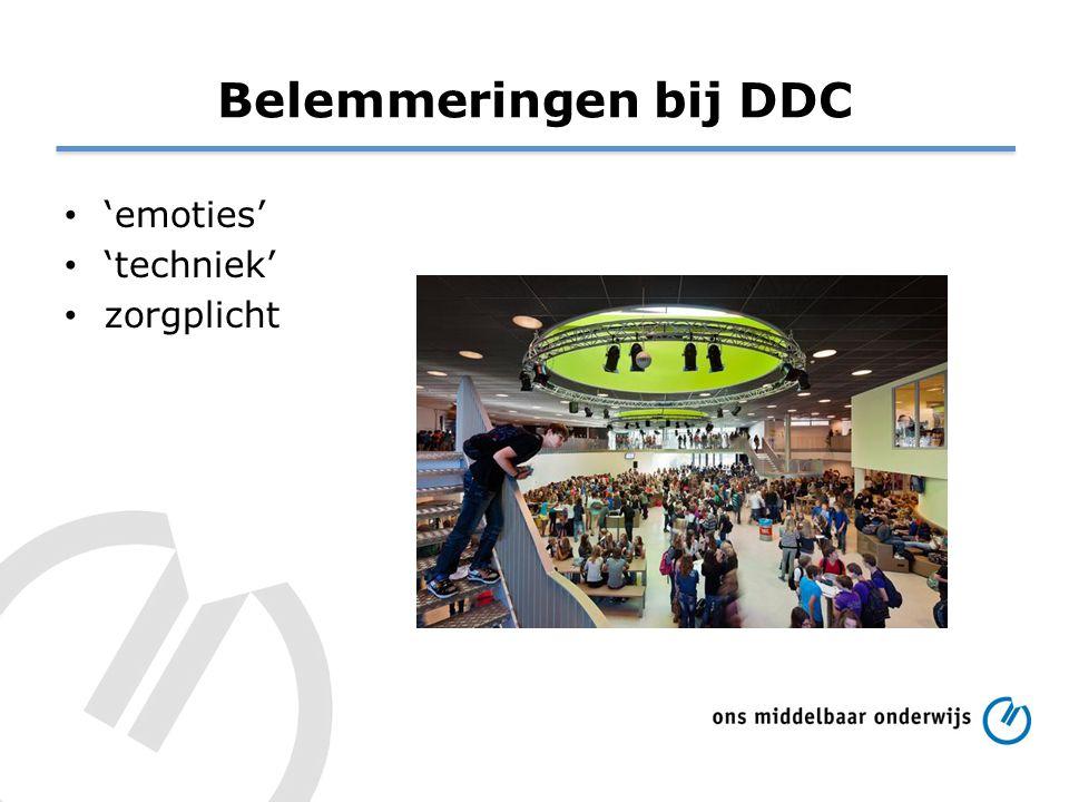 Belemmeringen bij DDC 'emoties' 'techniek' zorgplicht