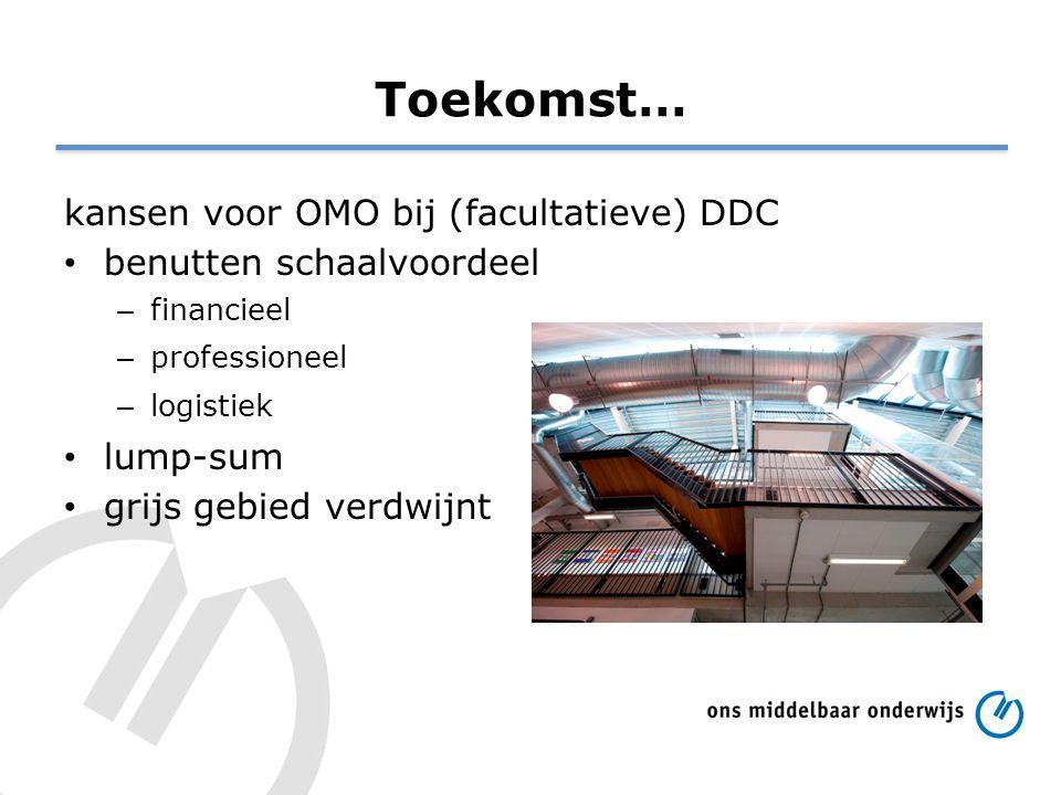 Toekomst… kansen voor OMO bij (facultatieve) DDC