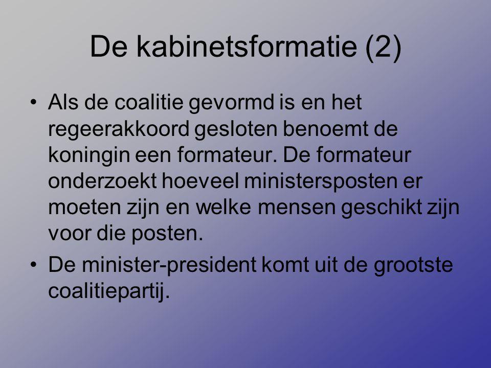 De kabinetsformatie (2)