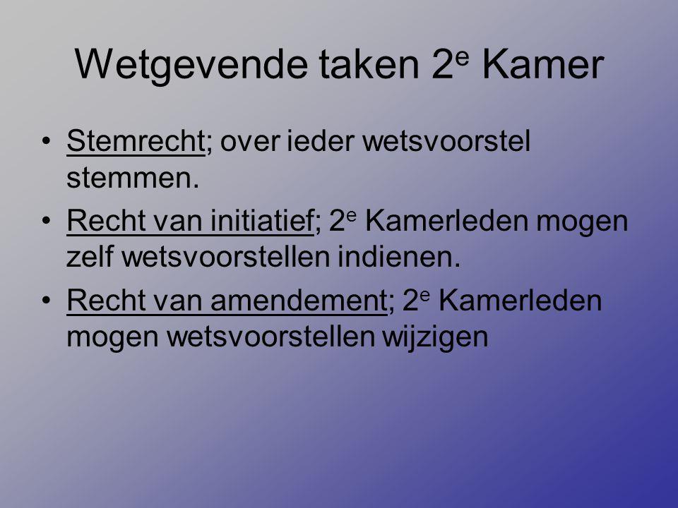 Wetgevende taken 2e Kamer