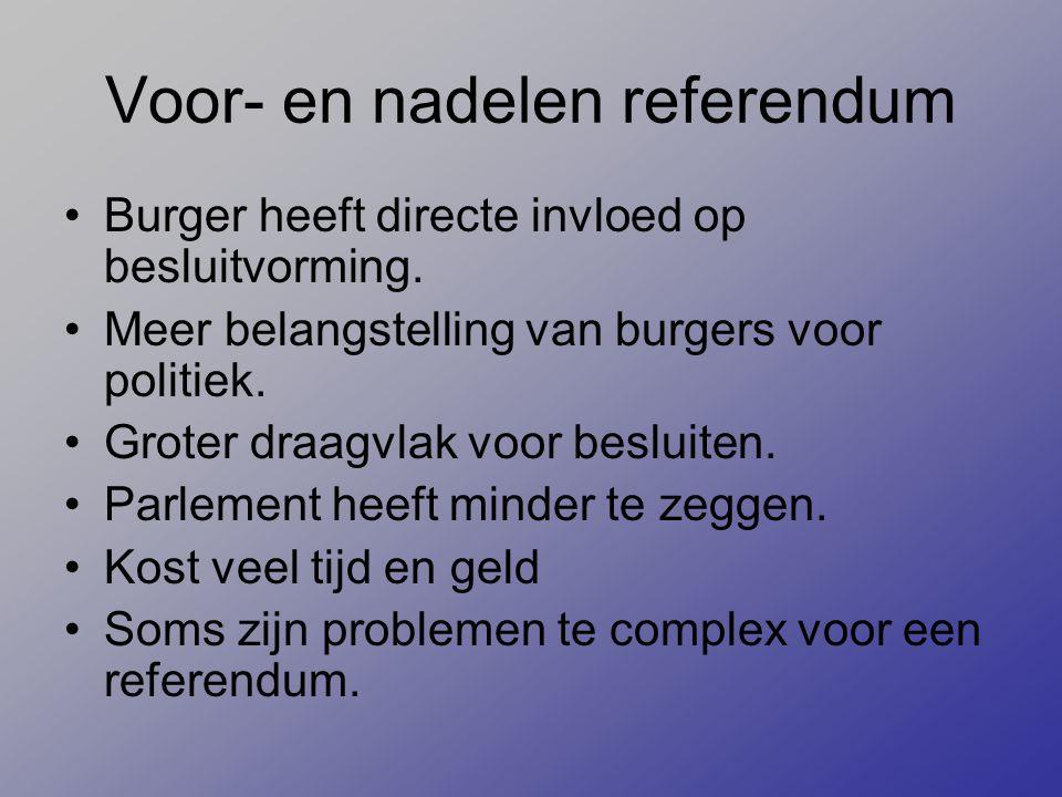 Voor- en nadelen referendum