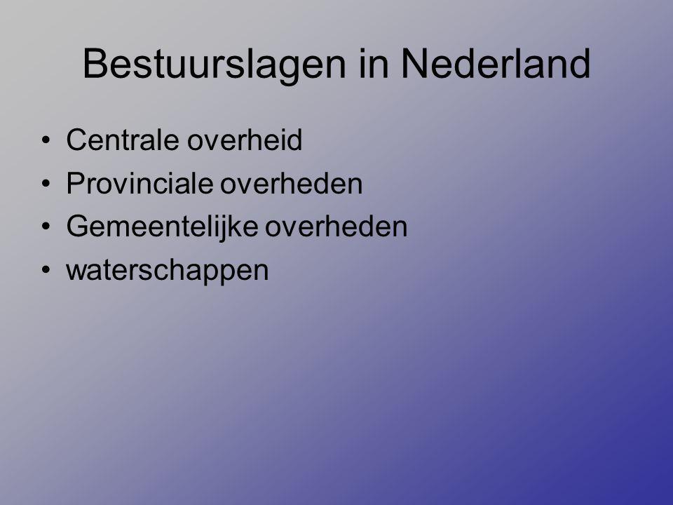 Bestuurslagen in Nederland