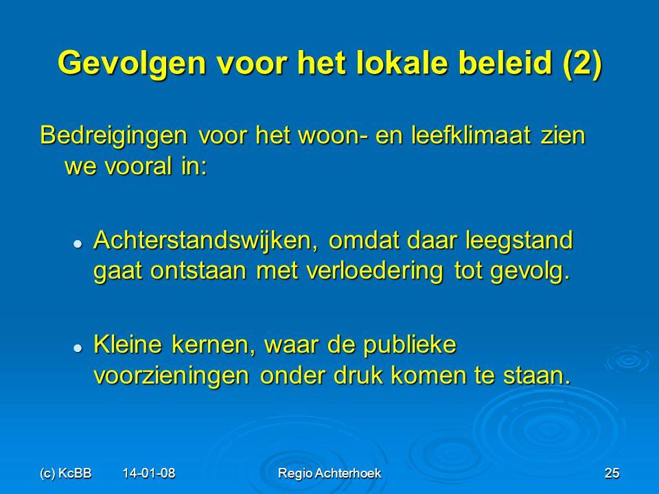 Gevolgen voor het lokale beleid (2)