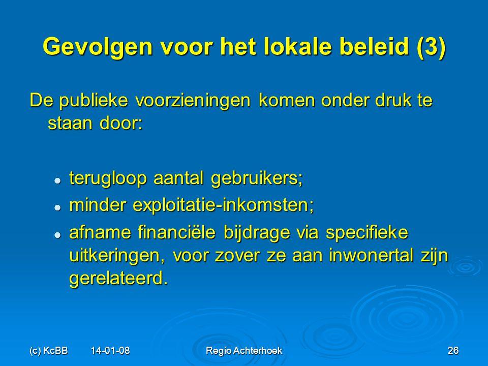 Gevolgen voor het lokale beleid (3)