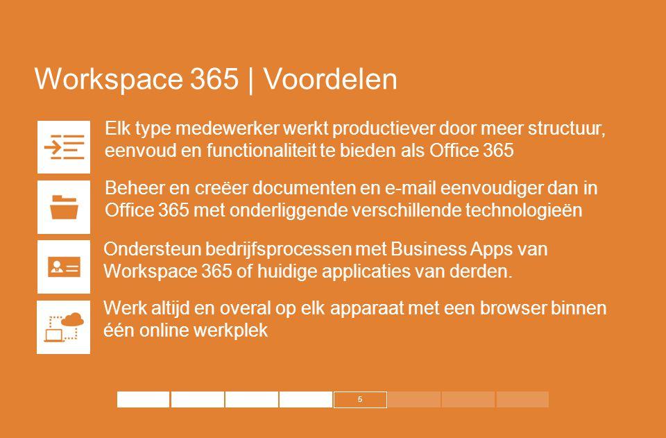 Workspace 365 | Voordelen Elk type medewerker werkt productiever door meer structuur, eenvoud en functionaliteit te bieden als Office 365.