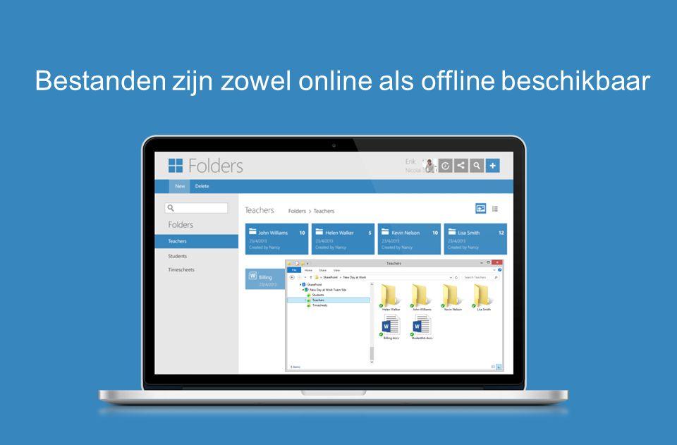 Bestanden zijn zowel online als offline beschikbaar