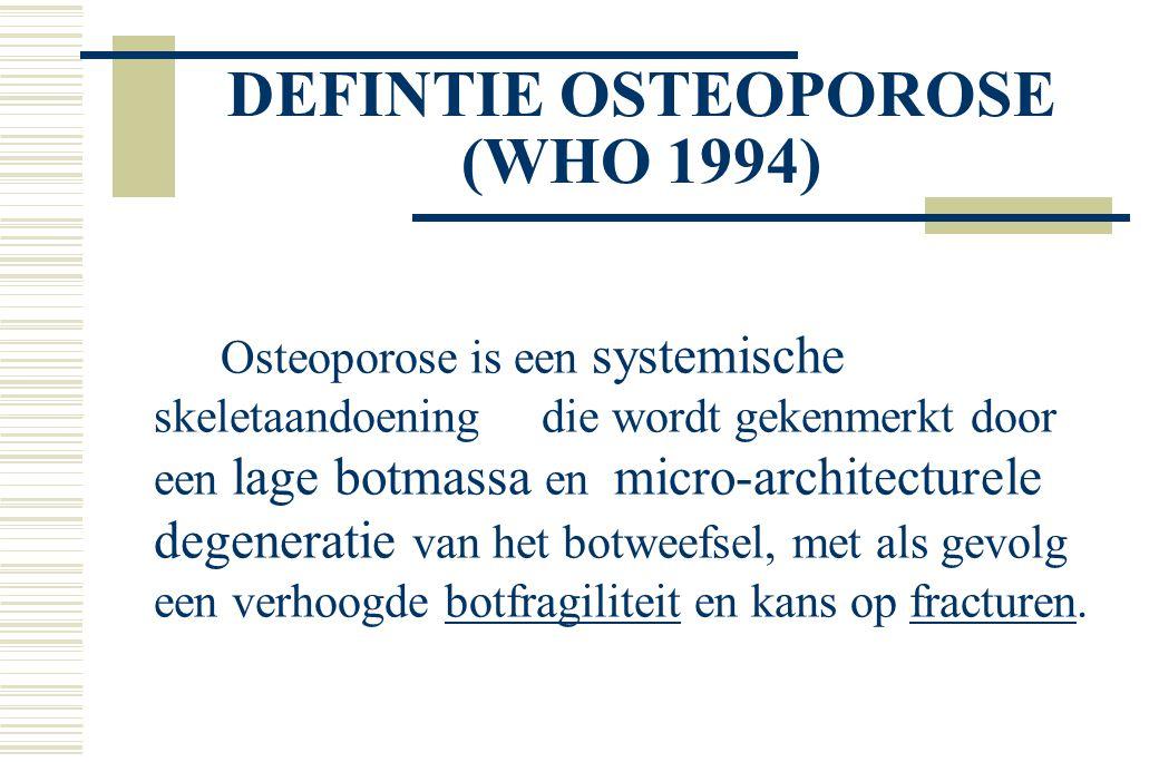 DEFINTIE OSTEOPOROSE (WHO 1994)