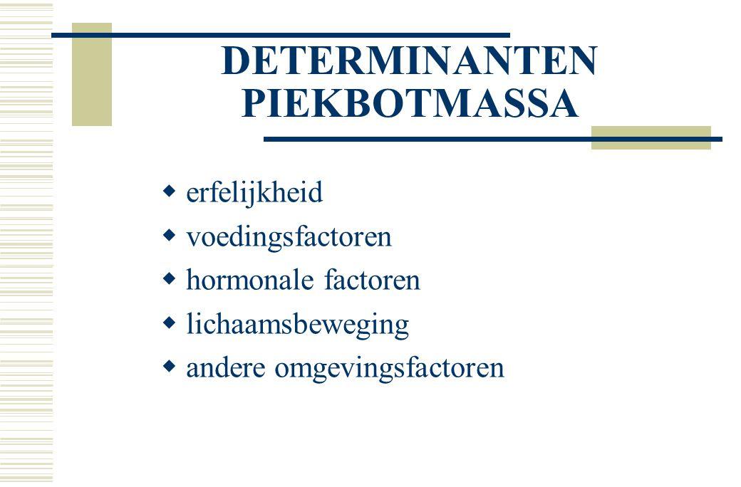 DETERMINANTEN PIEKBOTMASSA