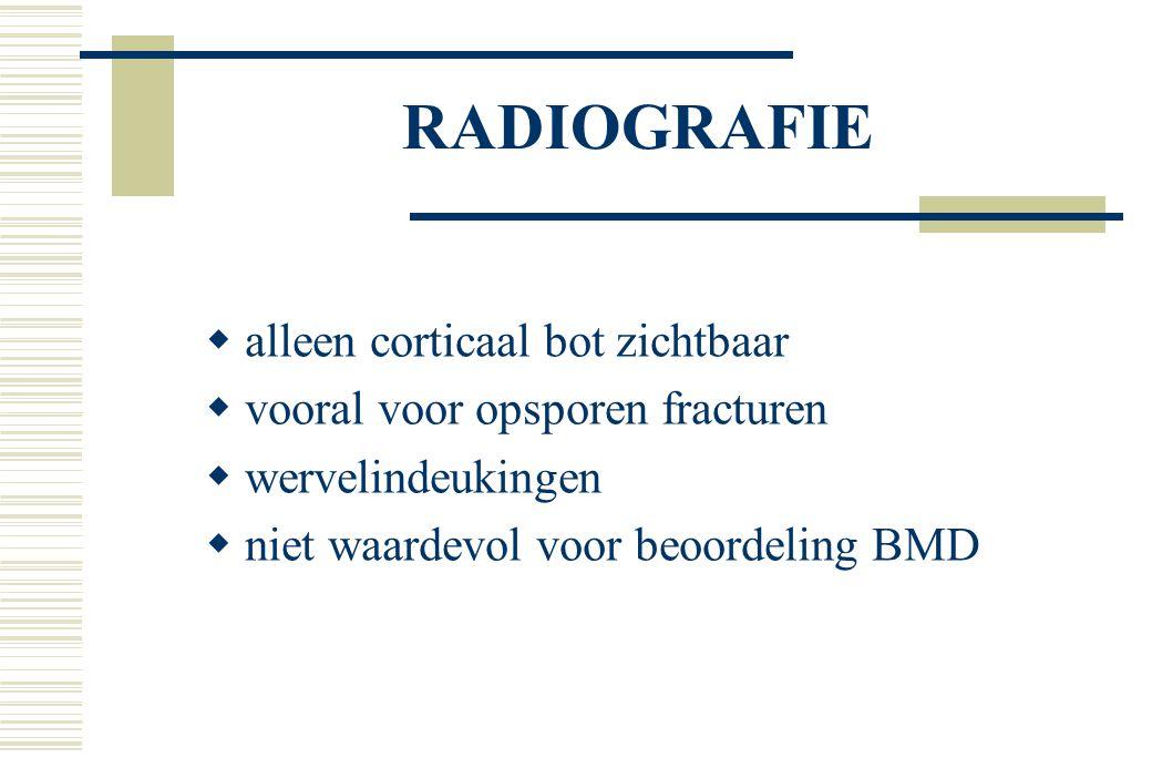 RADIOGRAFIE alleen corticaal bot zichtbaar