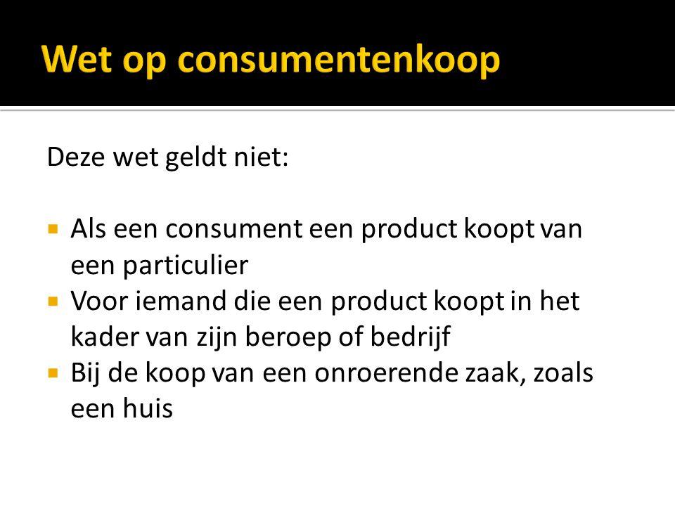 Wet op consumentenkoop