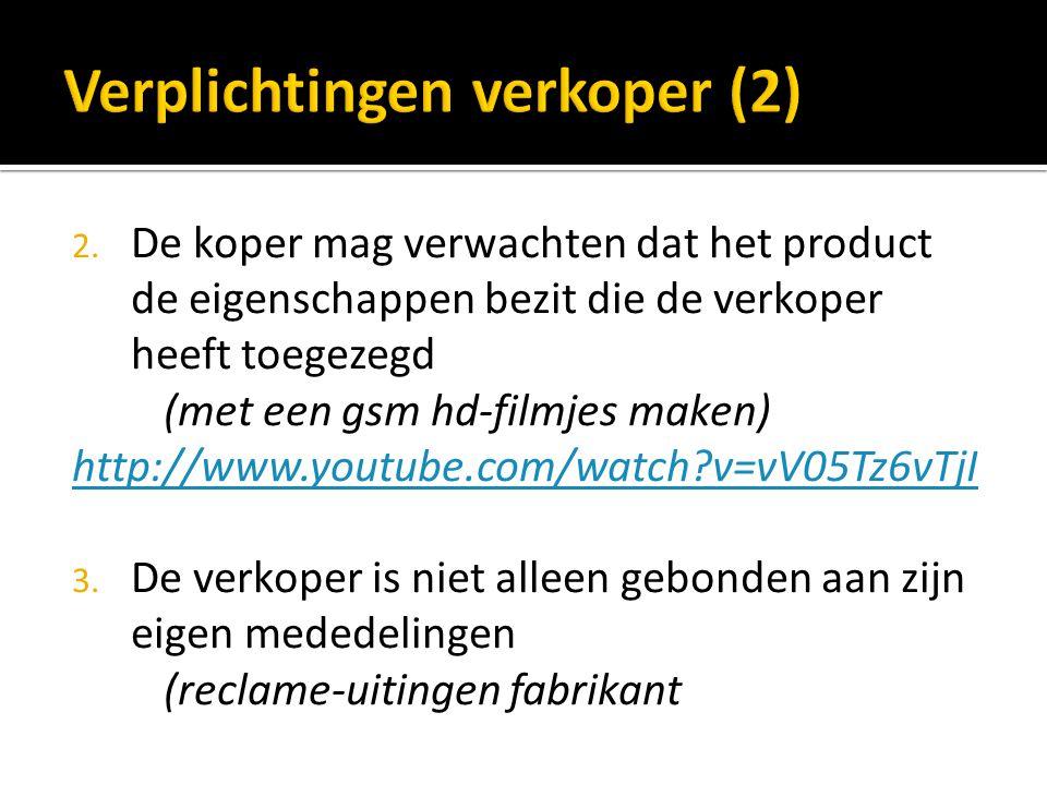 Verplichtingen verkoper (2)