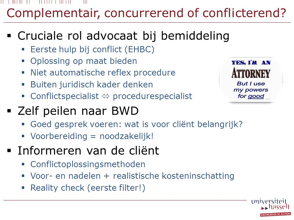 Complementair, concurrerend of conflicterend