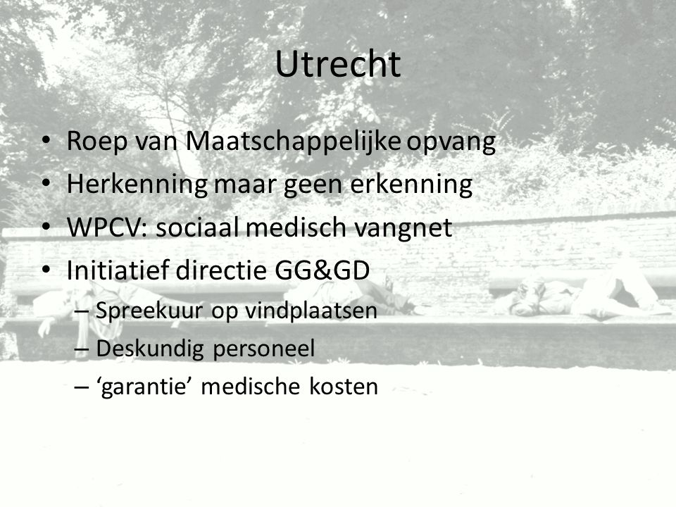 Utrecht Roep van Maatschappelijke opvang