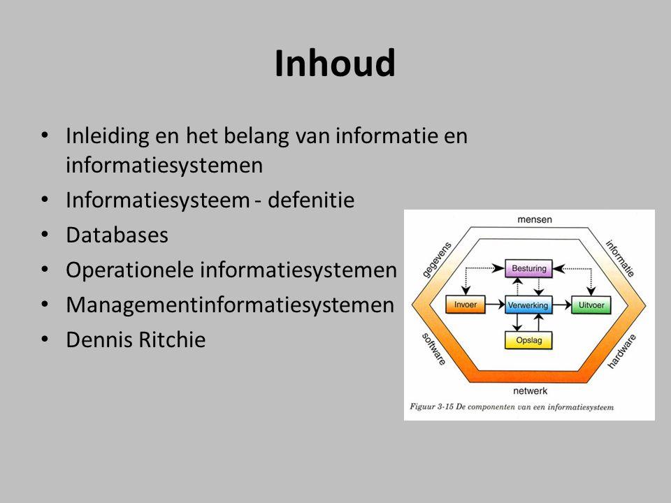 Inhoud Inleiding en het belang van informatie en informatiesystemen